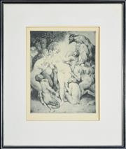 Sale 8203A - Lot 63 - Norman Lindsay (1879 - 1969) After. - Venus In Arcady 31 x 25cm