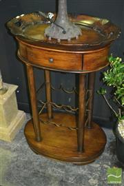 Sale 8227 - Lot 1007 - Timber Wine Caddy with Butlers Tray