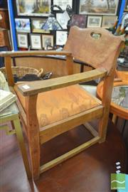 Sale 8284 - Lot 1089 - Oak Carver Chair