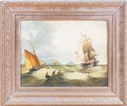 Sale 8341A - Lot 57 - C K Willens - Seascape 32.5 x 42cm