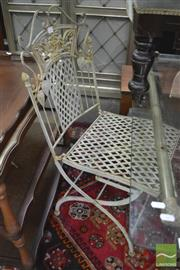 Sale 8338 - Lot 1414 - Pair of Metal Garden Chairs