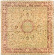 Sale 8536A - Lot 49 - A Distressed Vintage Isfahan Persian Wool & Silk Carpet Iran 300cm x 294cm RRP $9,000.00