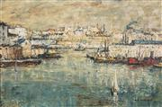 Sale 8526 - Lot 527 - George Feather Lawrence (1901 - 1981) - Pyrmont, 1966 39.5 x 60cm