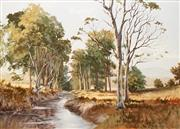 Sale 8652A - Lot 5094 - Irvine Campbell (1939 - ) - Sunlit Coxs River, Megalong Valley 90 x 120cm