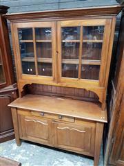 Sale 8714 - Lot 1026 - Late 19th/ Early 20th Century Cedar & Pine Dresser, with two astragal doors, a drawer & two shield panel doors (key in office)