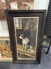 Sale 9016 - Lot 2020 - The Armless Artist The Loyal Hound oil on academic board 85 x 47cm (frame) signed lower left
