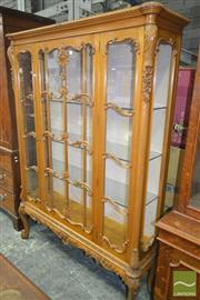 Sale 8267 - Lot 1072 - Good Australian Rococo Style Carved Maple Display Cabinet, with astragal door & panels, raised on cabriole legs