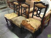 Sale 8412 - Lot 1082 - Pair of Chairs & Large Example (3) - needs restoration