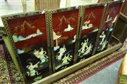 Sale 8550 - Lot 1217 - Set of Four Oriental Wall Panels