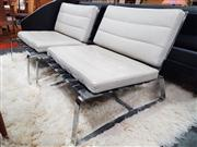 Sale 8822 - Lot 1030 - Pair of Minotti Chrome Based Lounge Chairs