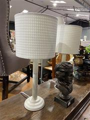 Sale 8876 - Lot 1095 - Pair of Timber Table Lamps