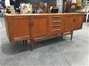 Sale 8967 - Lot 1031 - G Plan Fresco Teak Sideboard with Four Central Drawers and Four Doors (H:80 x W:213 x D:46cm)