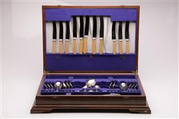 Sale 9098 - Lot 332 - Mismatched part cutlery in canteen (missing pieces)