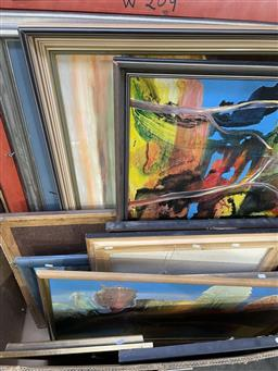 Sale 9135 - Lot 2090 - A large collection of large scale original works by Valda Morris of mostly Abstract and Landscape works,