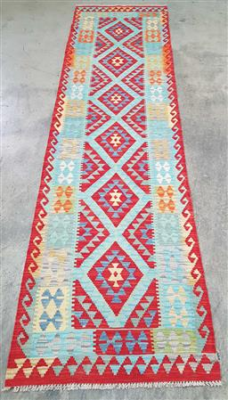 Sale 9166 - Lot 1087 - Hand knotted pure wool Persian Kilim runner ( 291 x 80cm)