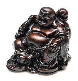Sale 9254 - Lot 2134 - A resin figure of a laughing Buddha (H:7.5cm)