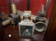 Sale 7962B - Lot 68 - Early Magic Lantern and box of slides together with two carriage lamps