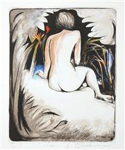 Sale 8526 - Lot 509 - Charles Blackman (1928 - ) - Wax (Female Nude) 42 x 33cm