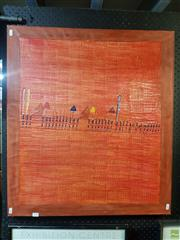 Sale 8592 - Lot 2061 - Artist Unknown - Parade, mixed media on canvas, 79 x 70cm, signed lower right