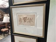 Sale 8845 - Lot 2083 - Louis Kahan - Watching Them Dancing etching and aquatint ed. 1/25, 48.5 x 56.5cm (frame) signed