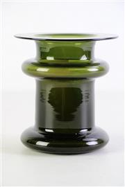 Sale 8948 - Lot 39 - A Green Art Glass Vase By Timo Sarpaneva (H 14cm Dia 13cm)