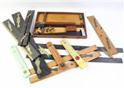 Sale 8997 - Lot 90 - A Collection Of Vintage Parallel Rulers And thermometers