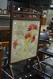 Sale 7987A - Lot 1111 - Firescreen w Embroidered Panel