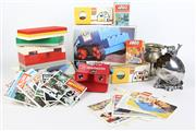 Sale 8463 - Lot 28 - Box Of Lego And Other Toys And Some Silver Plated Ware