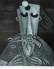 Sale 8567A - Lot 5010 - Kevin Charles (Pro) Hart (1928 - 2006) - The Yabby Eater 64 x 51cm