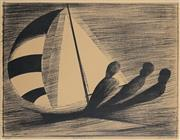 Sale 8916 - Lot 512 - Charles Blackman (1928 - 2018) - Balancing The Boat, 1967 55 x 73 cm