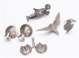 Sale 9185E - Lot 171 - A collection of chrome and metal wares including cherub examples