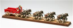 Sale 9209 - Lot 33 - Early Budweiser horse and carriage display (L:90cm)