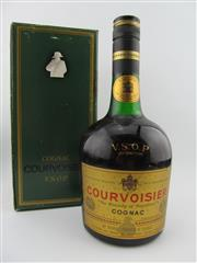 Sale 8385 - Lot 626 - 1x Courvoisier VSOP Cognac - old bottling in box, evaporative losses