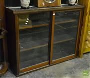 Sale 8499 - Lot 1014 - Victorian Wall Mount Cabinet with Sliding Glass Doors