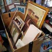 Sale 8636 - Lot 2069 - Large Box of Artworks, Prints etc (box not included)