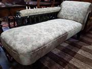 Sale 8740 - Lot 1316 - Fabric Upholstered Chaise with Gallery Back