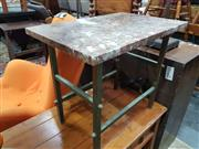 Sale 8863 - Lot 1095 - Marble Top Side Table on Metal Base