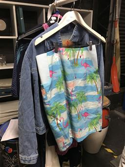 Sale 9101 - Lot 2103 - Womens Denim Jacket With Flamingo Skirt And Rockabilly Example
