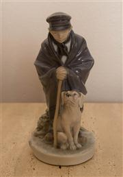 Sale 8313A - Lot 42 - A Royal Copenhagen figure of a shepherd with a dog, model number 782, height 19cm