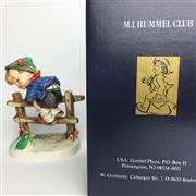 Sale 8456B - Lot 36 - Hummel Figure of a Boy on Fence with Frog (Original Box)