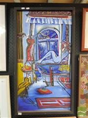 Sale 8548 - Lot 2048 - T.Geale Interior Framed Artwork