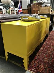Sale 8809 - Lot 1092 - Yellow Painted Timber Sideboard