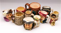 Sale 9098 - Lot 219 - Collection of Various Character Jugs
