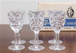 Sale 9140H - Lot 23 - A set of twelve Waterford crystal liqueur glasses in the Tralee pattern