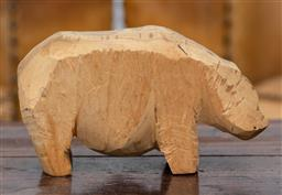 Sale 9160H - Lot 141 - A prop carved hippo from ex Fox studios inc sale, Beverly Hill Billies, Length 18cm