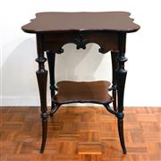 Sale 8000 - Lot 134 - A late Victorian mahogany turned and carved occasional table with lower tier.
