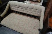 Sale 8050B - Lot 34 - Late Victorian walnut settee with turned Gallery back and floral upholstery
