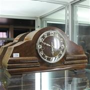 Sale 8236 - Lot 74 - Timber Cased Mantle Clock