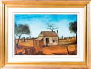 Sale 8341A - Lot 6 - Pro Hart - The Miners House, 1966 43.5 x 67.5cm