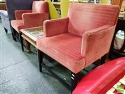 Sale 8550 - Lot 1456 - Pair of Square Form Tub Chairs
